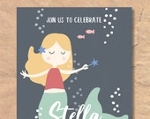 Printable Mermaid Birthda...