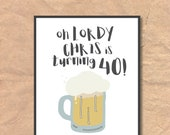 Printable 40th Birthday I...