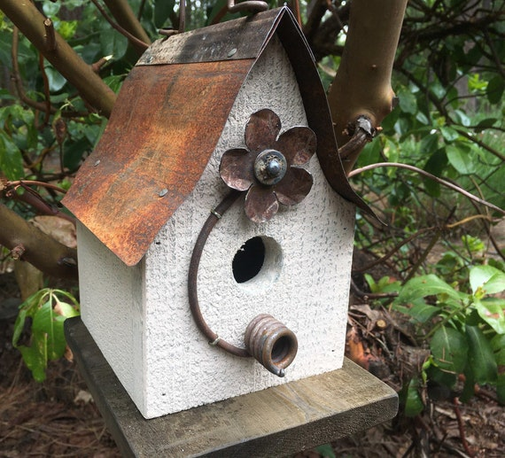 Rustic Birdhouses garden bird houses outdoor birdhouse handmade white birdhouse20