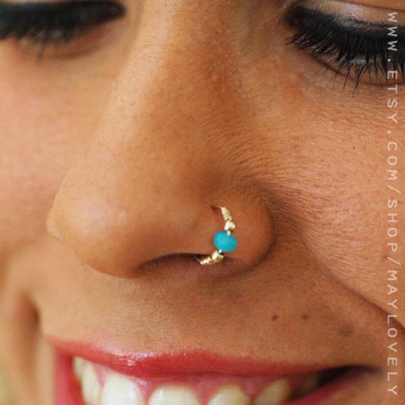 Septum Ring Hindu Silver Septum Ring Indian Septum Ring Septum