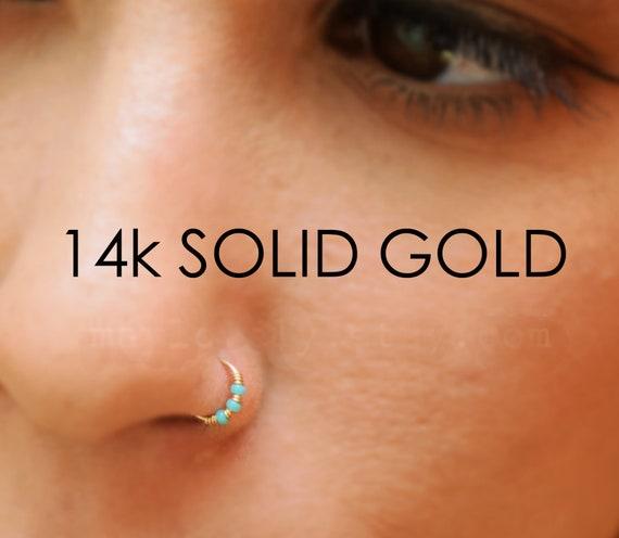 Crystal Heart Hoop Nose Ear Rings Helix Tragus Cartilage Earrings Piercings Sw S