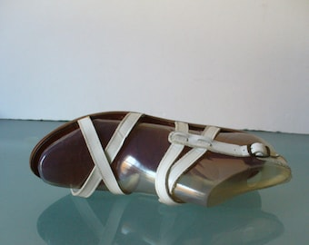 89b3a0234bb Vintage Made in Italy Beene Bag Roman Sandals Size 7.5US