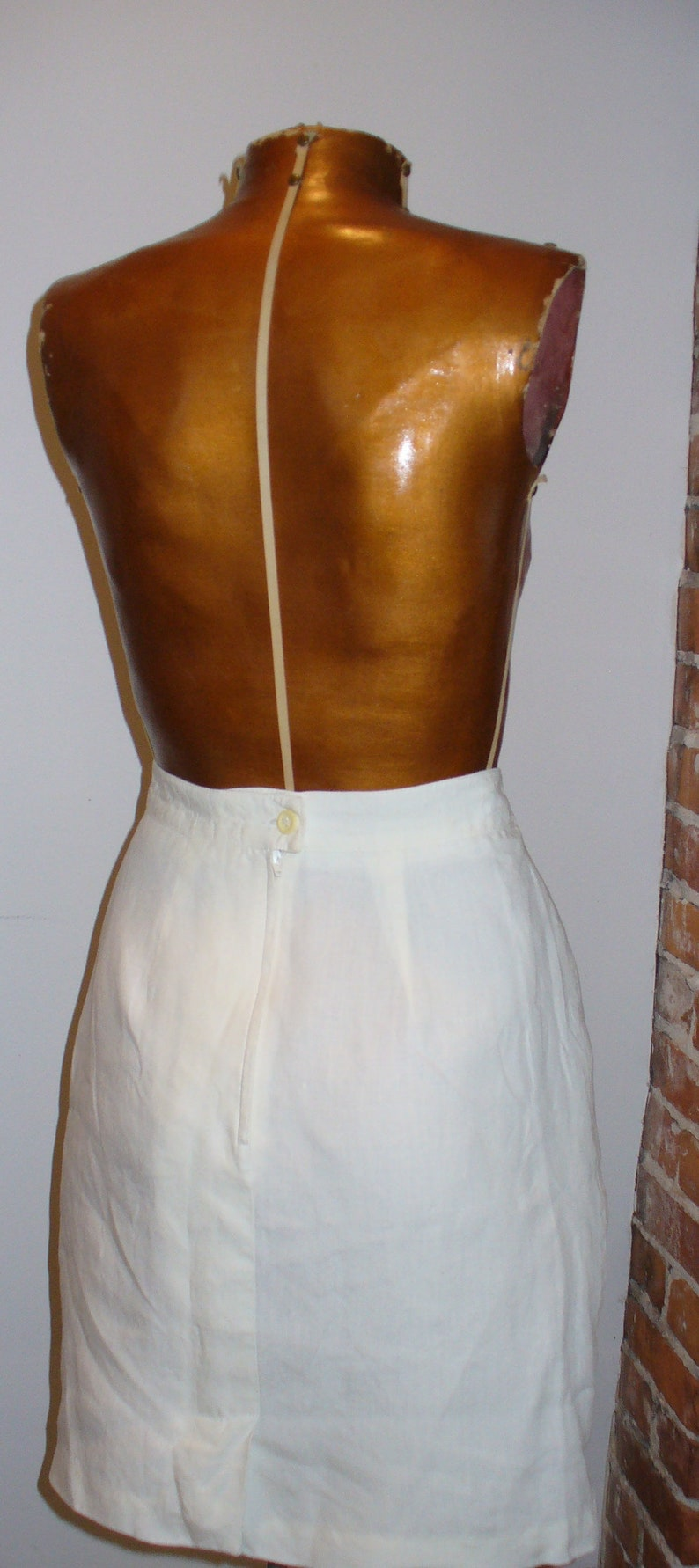 Vintage Max Mara Made in Italy Linen Skirt  Size 4 US