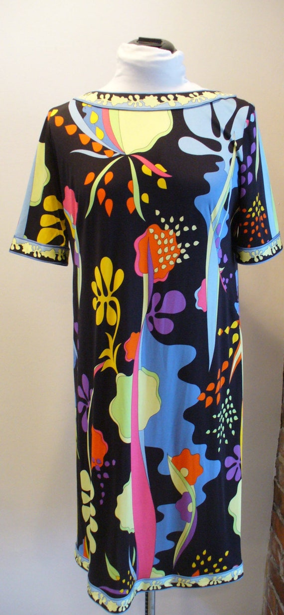 Vintage Bessi Silk  Dress Made in Italy Size 10US