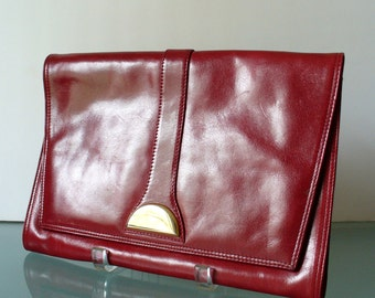 Made in Italy Vintage Antonio Scepi Oxblood Clutch Bag