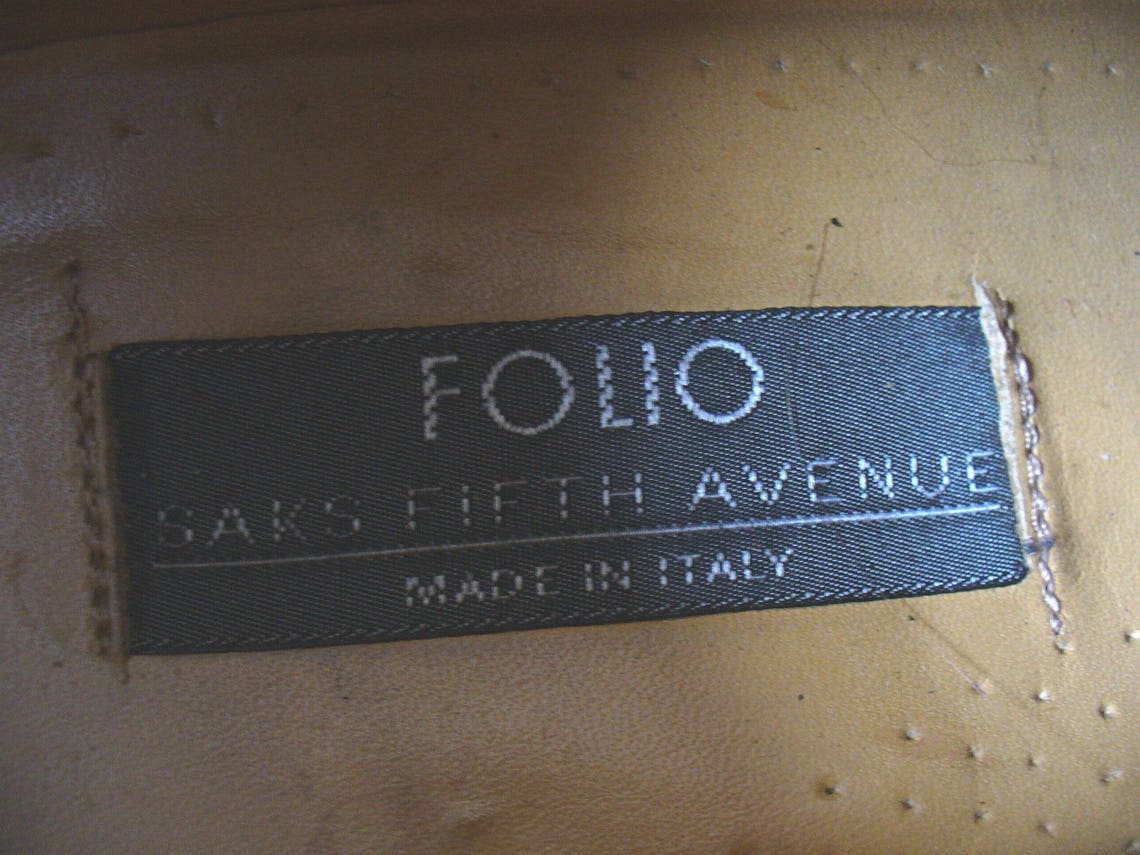 Folio Saks Fifth Avenue Made in Italy Woven Leather  Shoes Size 8.5 M