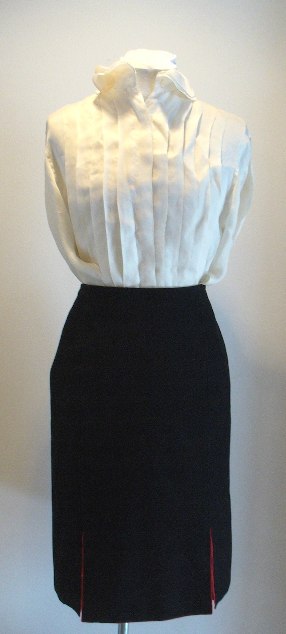 Vintage Willi Smith Made in Italy Black Skirt  Siz