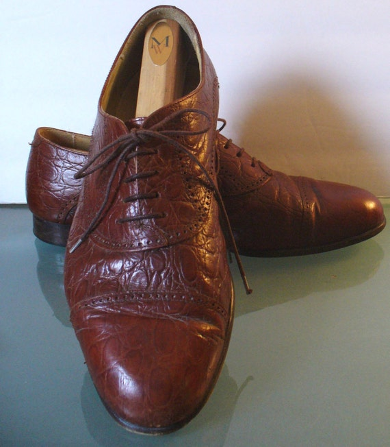 Johnston /& Murphy Vintage Wingtip Shoes Size 10 US