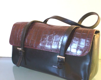 Claudia Firenze  Alligator Embossed Made in Italy Purse