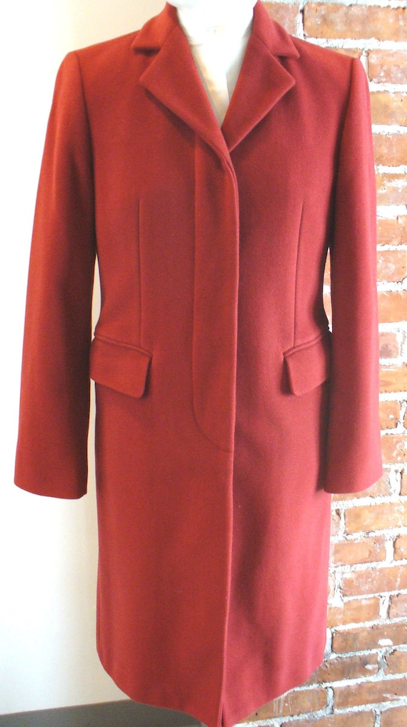 Vintage Benetton Made in Italy Tomato Red Overcoat