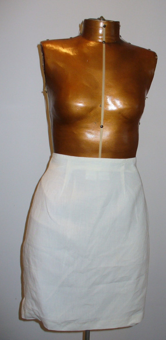Vintage Max Mara Made in Italy Linen Skirt  Size 4