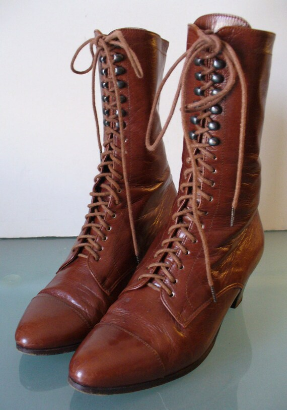 Made in Italy Ralph Lauren Granny  Boots Size 5.5B