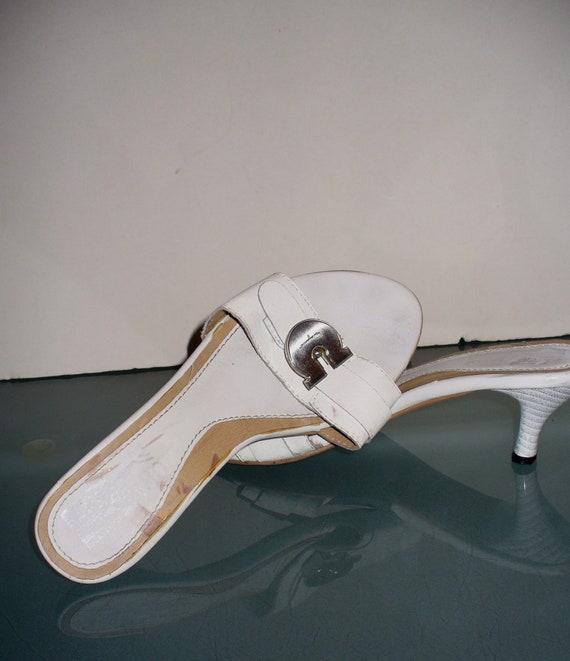 Ferragamo Kitten Heel Slides Made in Italy Size 37 - image 7
