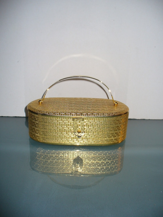 Dorian Continental Gold Metal Purse Made in Italy