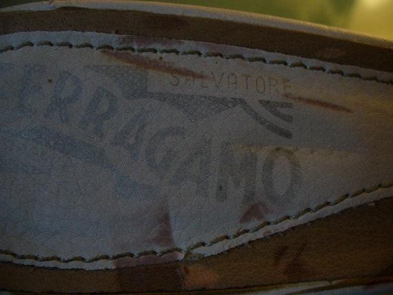 Ferragamo Kitten Heel Slides Made in Italy Size 37 - image 4