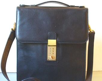 Michelangelo Black  Messenger Bag Made in Italy