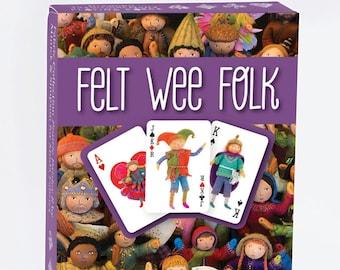 Felt Wee Folk Playing Cards