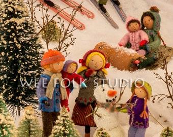 4 Cards - Wee Folk Winter Play
