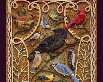 4 Cards - Birds of Beebe Woods