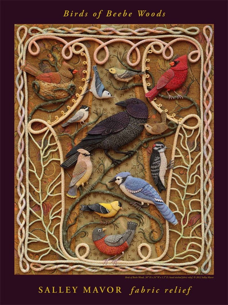 Birds of Beebe Woods  18 x 24 Poster reproduction of image 0