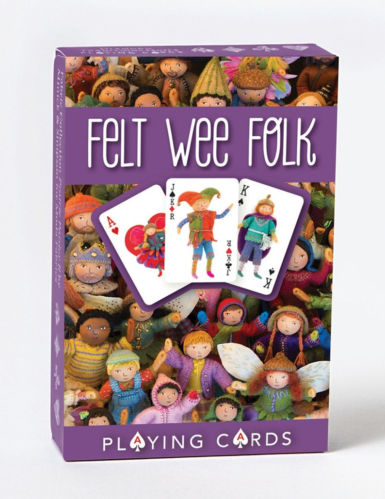 Felt Wee Folk Playing Cards image 1