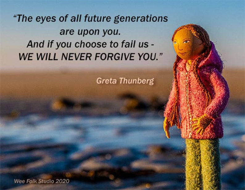 Greta Thunberg  4 Card Set  profits to benefit climate image 0