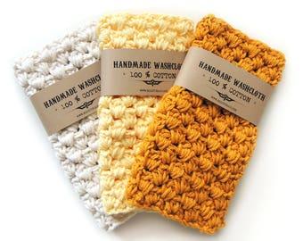 Bath Accessories - Washcloths - Wash cloth - Crochet Washcloth - Cotton Washcloth - Wash Cloths - Face Cloth - Cotton Wash Cloth - Bathroom