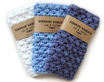 Washcloth Crochet Cotton Washcloth for Men Stocking stuffer Dad Gift for Christmas Handmade wash cloth Crochet Hostess gift