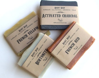 Soap Sampler Detox Soap Samples Handmade Soap Vegan Soap Natural Soap Sampler Set Homemade Soap Ends Mini Soaps Soap Favors Travel Soap