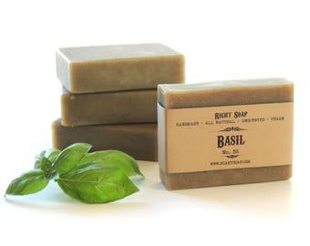 Homemade Soap Unscented All Natural Soap Vegan Men Gift Artisan Soap Sensitive skin Soap Basil Soap