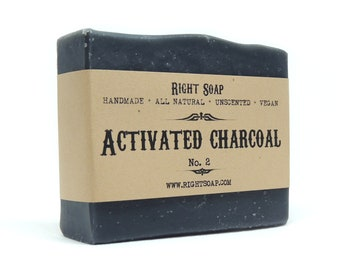 Charcoal Soap Activated Charcoal Handmade Soap Acne Soap Vegan Soap All Natural Soap Bar Facial Soap Detox Soap Organic Soap Unscented Soap