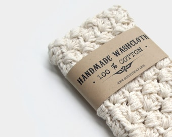 WASHCLOTH Handmade | Crochet Cotton Wash cloth | Stocking Stuffer Gift