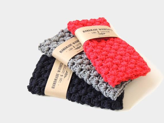 Waschlappen Baumwolle Häkeln Handgemachte Strumpf Etsy