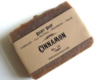 Soap Natural Soap Bar Homemade Soaps Unscented Soap Vegan Soap Cinnamon Soap Body Soap Bar Artisan Soap Exfoliate soap Handmade Soap
