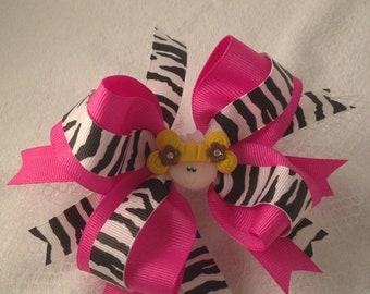 Cutie Pie Zebra Hair Bow