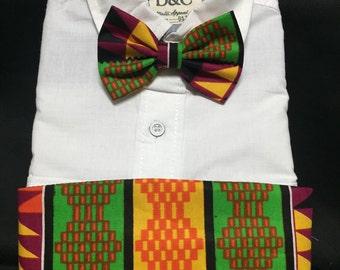 Bold Colorful African Kente print Kids Cummerbund for a wedding or formal event