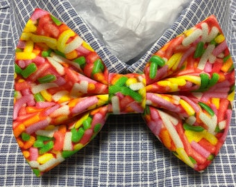 Rainbow Sprinkles Sweet Candy Print Bowtie / Bow Tie