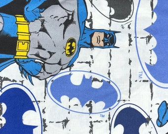 Fabric by the Yard - DC Batman on Brick Graffiti