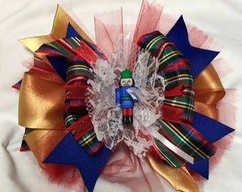 The Nutcracker in Gold and blue Head Band or Hair Bow