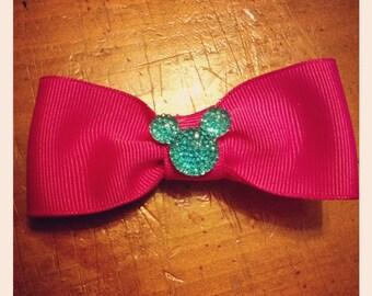 Disney Mickey Sparkle Hair Bow - 3 inches