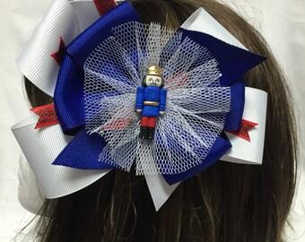 The Nutcracker in Blue Head Band or Hair Bow