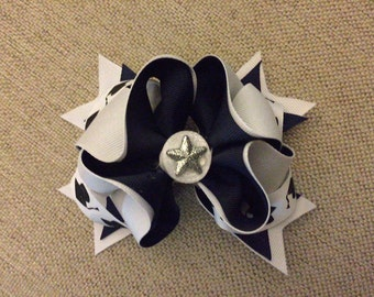 Graduation Black and White Cap Medium Head Band or Hair Bow