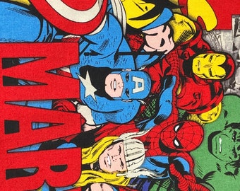 Fabric by the Yard - Avengers with Marvel Logo