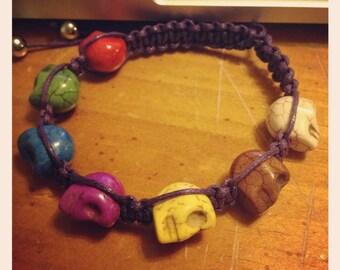 Mini Sugar Skull Shambala Bracelet CUSTOM