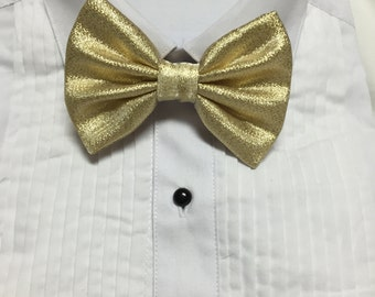 Gold Metallic Foil Bowtie / Bow Tie