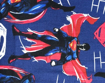 Fabric by the Yard - DC SuperMan Sketch