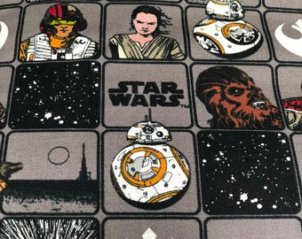 Fabric by the Yard - Star Wars Character Sketch Gray and Black