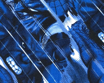 Fabric by the Yard - Blue Avengers Blur