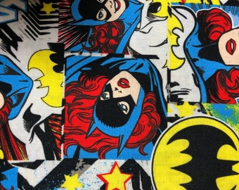 Fabric by the Yard - DC Batgirl Comic Print