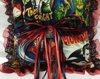 Custom Classic Movie Horror Monster Print wedding Ring Bearer Pillow